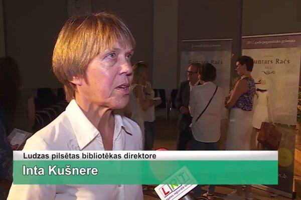 LRTV video: Ludzā notiek Guntara Rača grāmatas prezentācijas koncerts