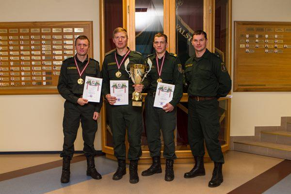 XVI robežsargu norīkojumu sacensībās uzvaru gūst Ludzas pārvaldes komanda