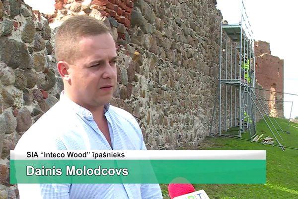 LRTV video: Ludzā notiek pilsdrupu konservācija