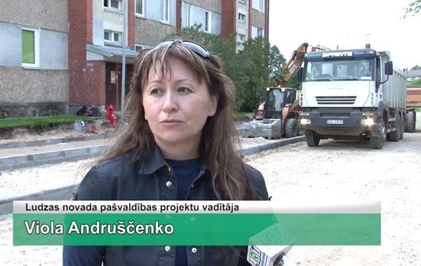 LRTV video: Ludzā Dagdas ielas rekonstrukcijas darbus plānots pabeigt ziemā